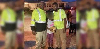 coletores de lixo com menina salva sequestro