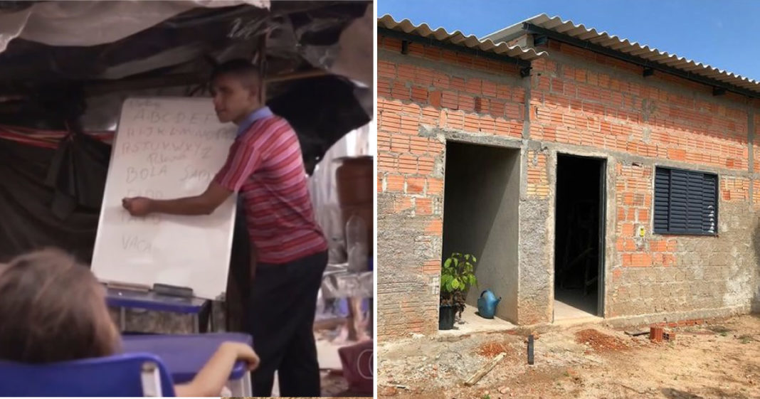 Carlos constrói escola