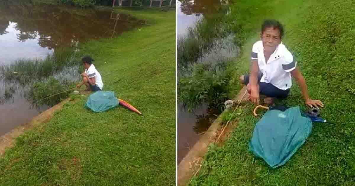 idosa pescando rio busca comida após perder tudo enchente