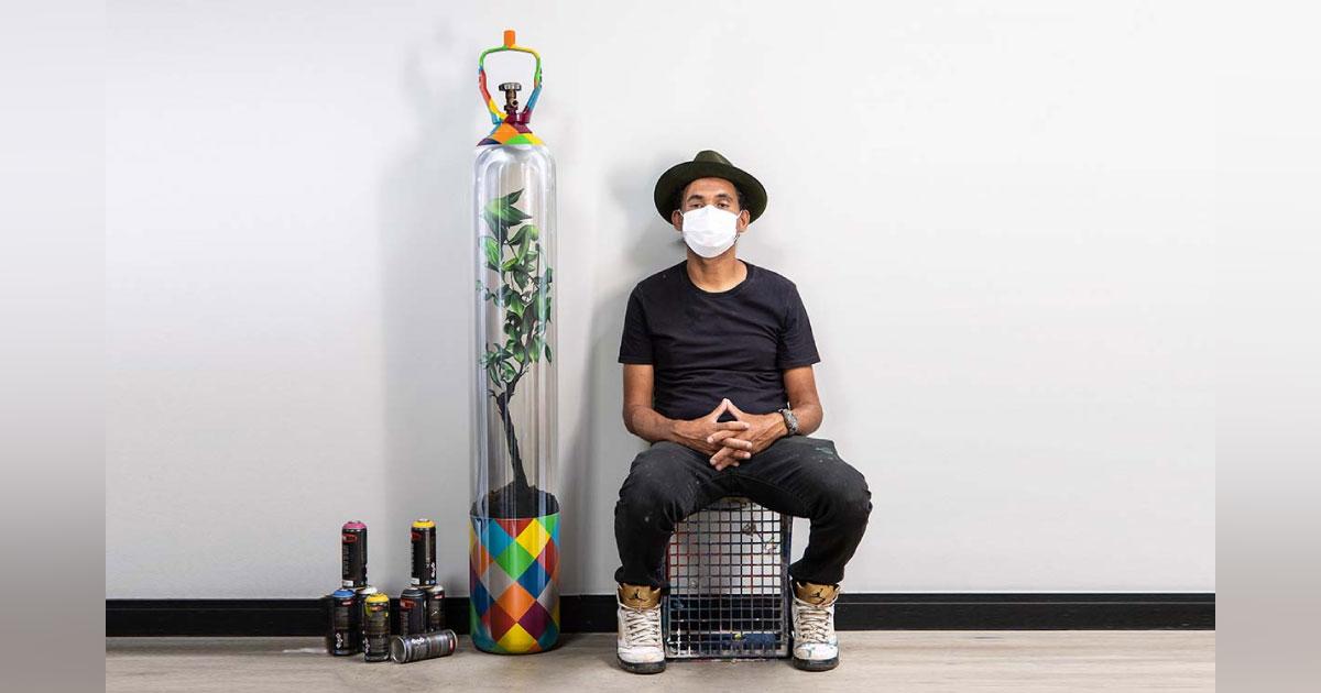 Kobra transforma cilindro de oxigênio inativo em arte e doa dinheiro da venda para o Amazonas 1