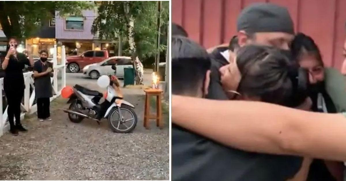 cozinheiro ganha moto