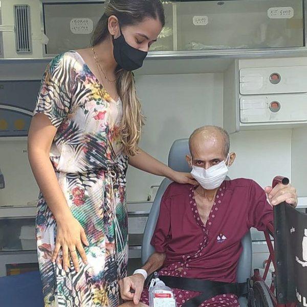paciente com câncer pediu para ver o mar