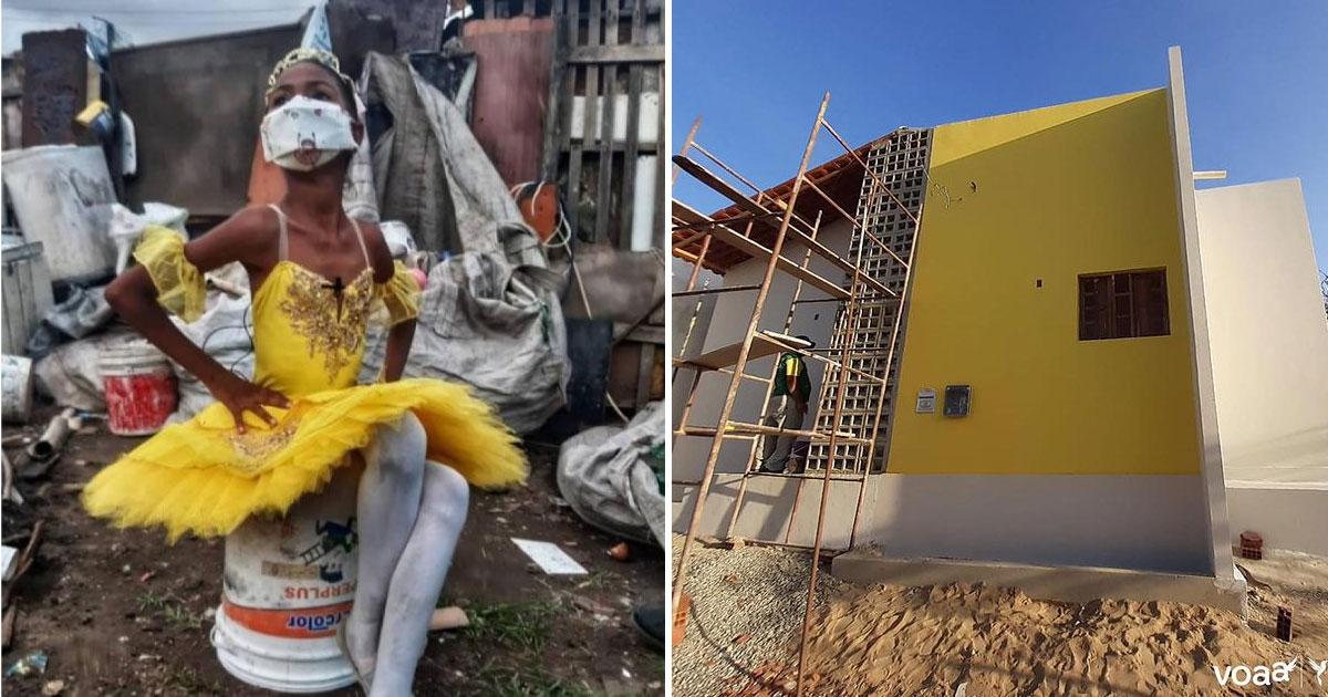 Raíssa consegue construir casa pra família