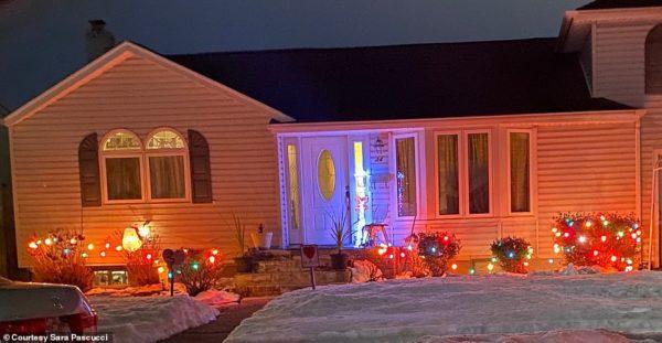 luzes de natal na vizinhança