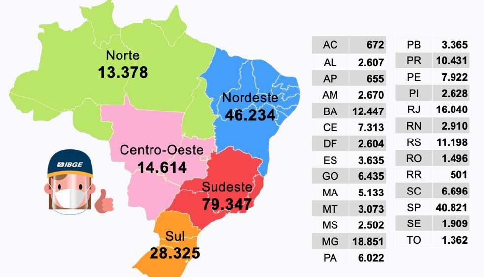mapa vagas recenseador censo demográfico 2021
