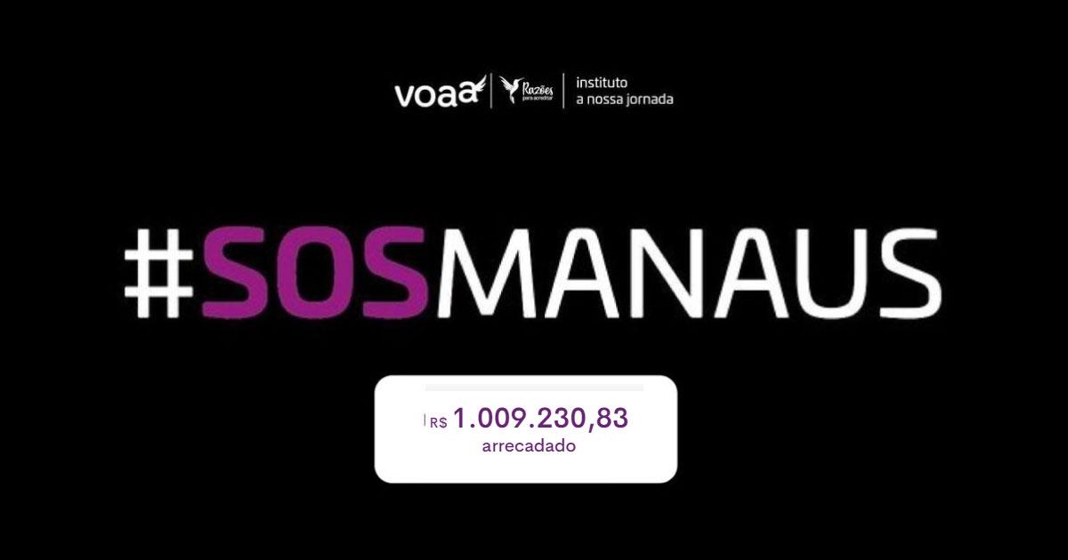 vaquinha para Manaus arrecada 1 milhão