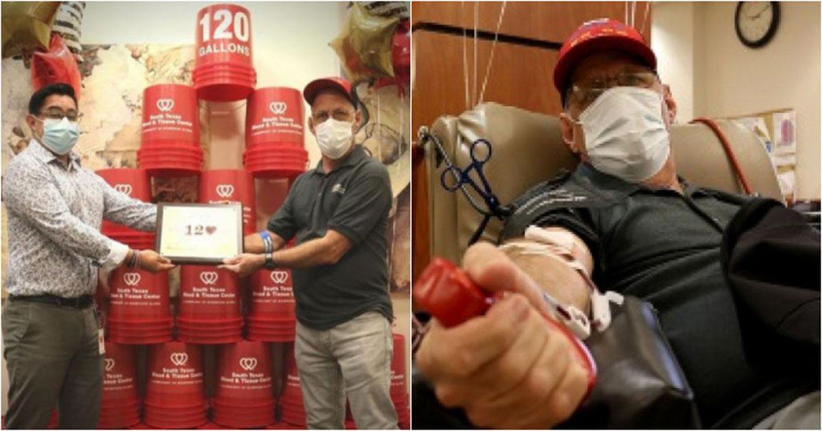 Marcos Perez já doou 120 galões de sangue até hoje