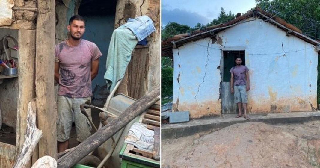 Cirão mora em uma casa com risco de desabar