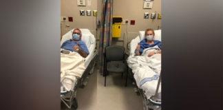 Bonnie O'Reilly em hospital com Graham Nesbitt