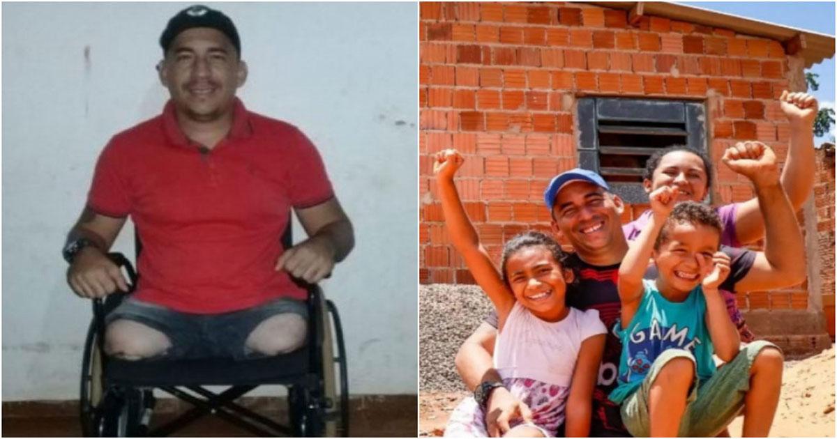 Alcionildo e família sonham com as próteses