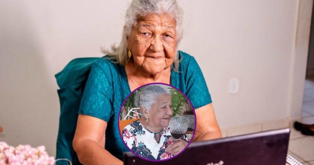 Dona Maria, idosa de 101 anos que entregou currículo e virou influencer