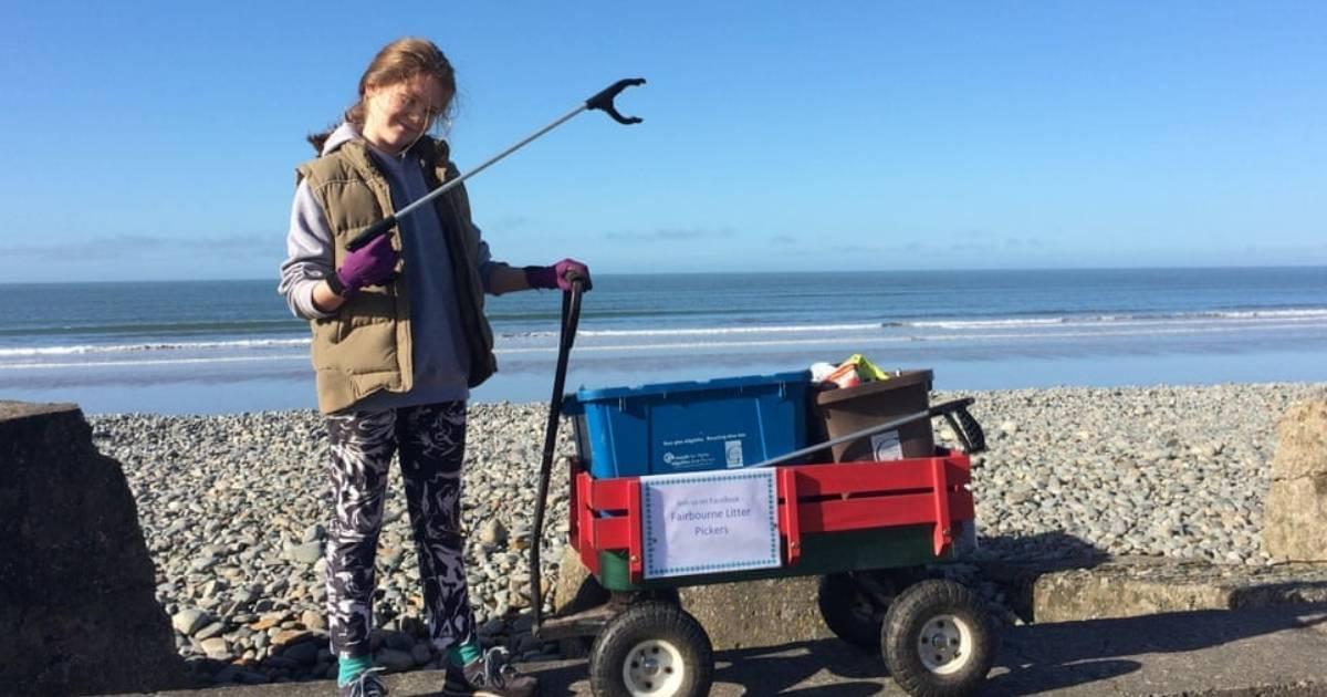 Menina de 10 anos faz campanha contra o excesso de plástico no País de Gales