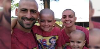 familia apoia menina com leucemia