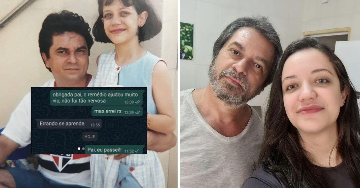Pai abraçado com filha