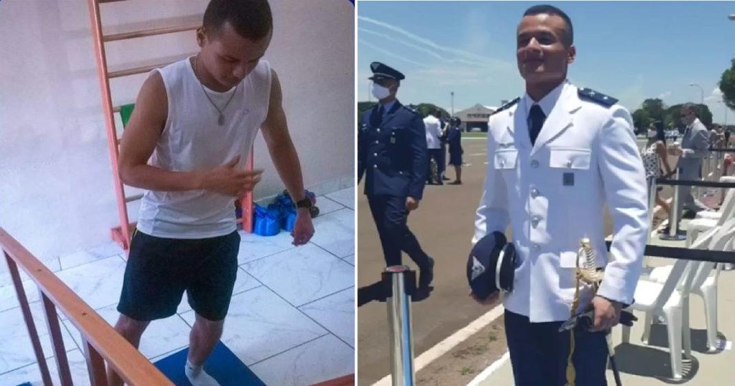 Leandro entrou para aeronáutica após fisioterapia