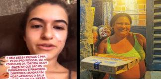 Print de viral e pizza solidária Gavi da FGV