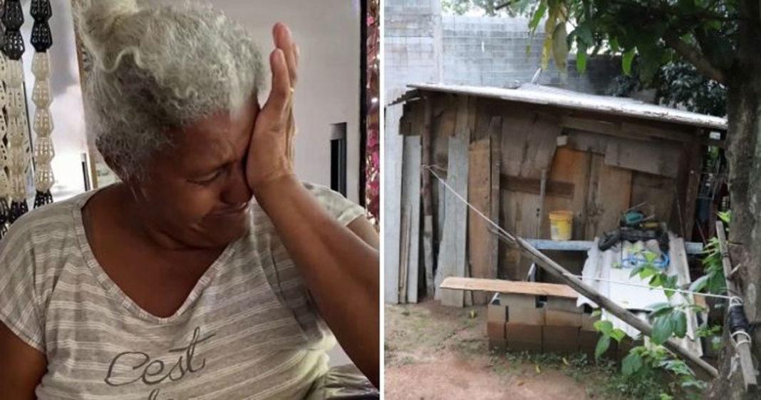 Idosa foi humilhada por morar em barraco