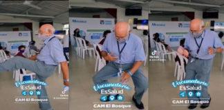 José Luis Macedo dançando em vídeo do TikTok