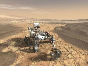 Perseverance, rover responsável pela exploração de Marte