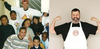 Participante do Masterchef Brasil com várias crianças em abrigo
