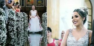 menina paralisia cerebral dama de honra casamento