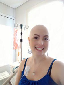 Roberta Perez em tratamento de câncer