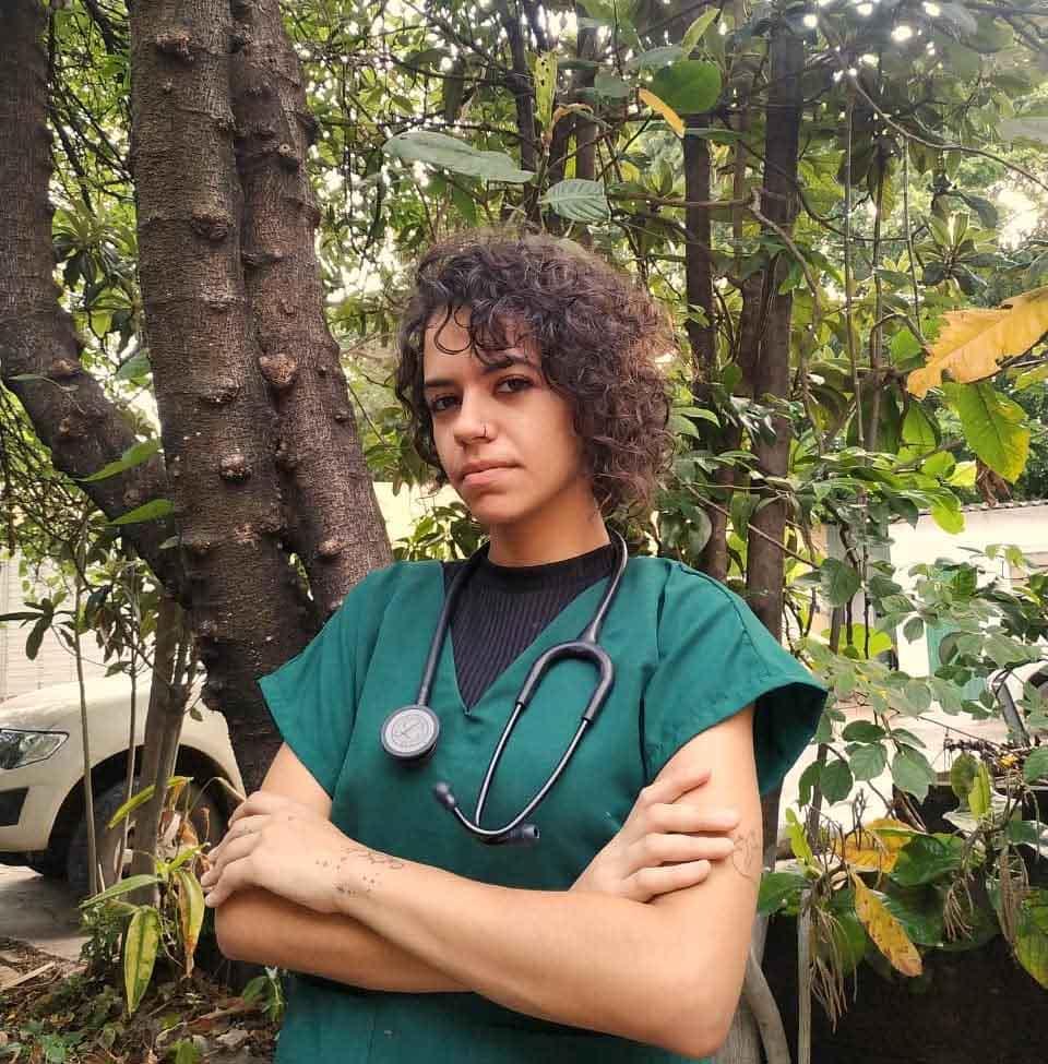Thamiris, estudante de medicina veterinária