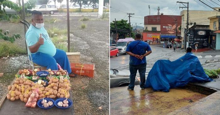 venezuelano vende frutas verduras ruas são paulo