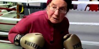 vovo lutadora boxe capa