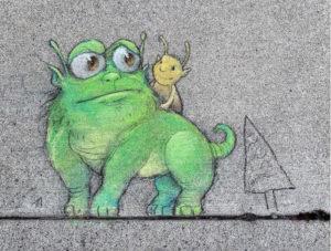 Pintura 3D do artista David Zinn