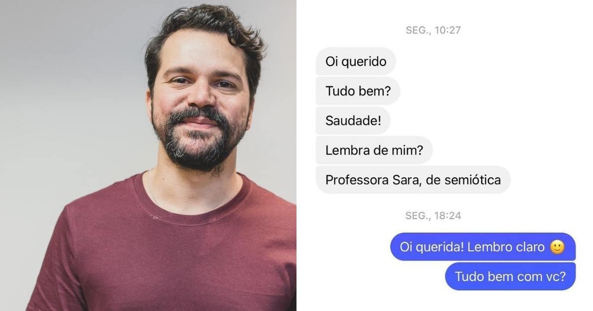 Vicente Carvalho recebe mensagem de ex-professora