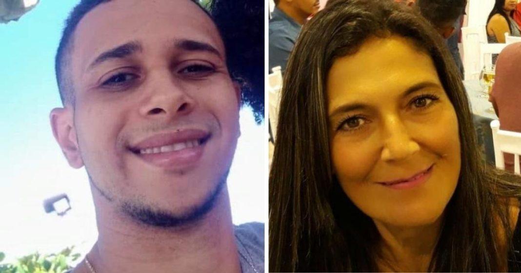 homem à esquerda e mulher à direita