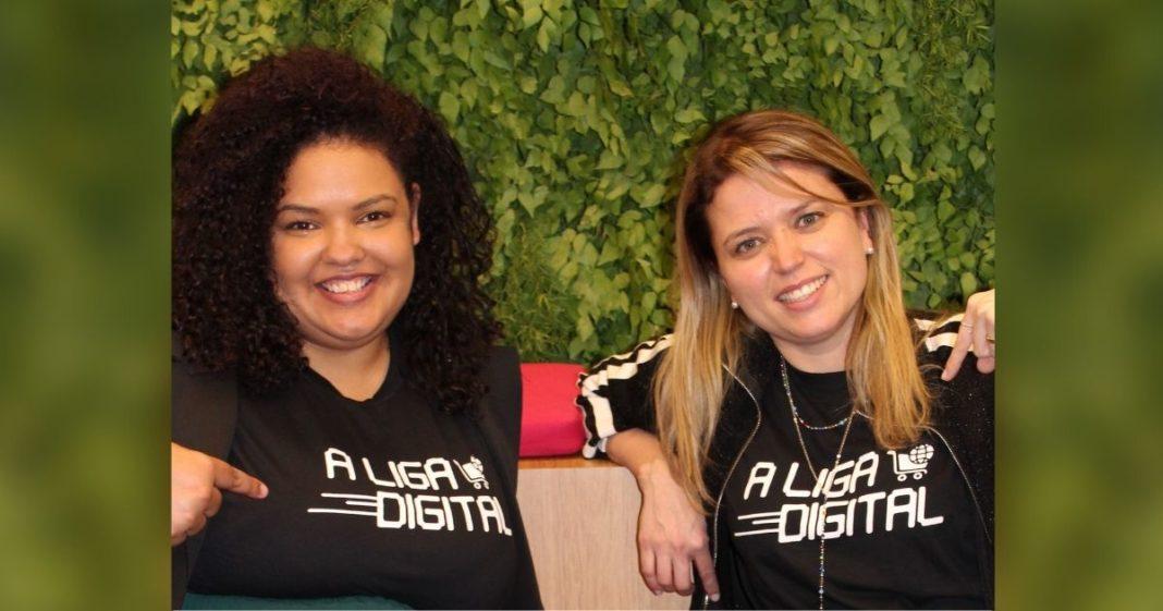 Helê e Edilaine, fundadoras da Liga Digital