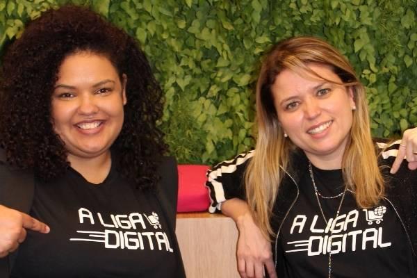 Helê e Edilaine, fundadoras da A Liga Digital
