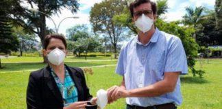 casal brasileiro criaram máscara inibe coronavírus