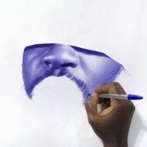 quadro hiper-realista nigeriano