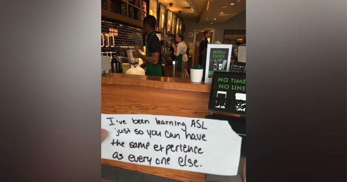 Bilhete no Starbucks