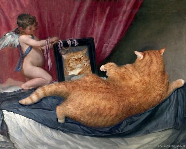 quadro famoso com gato pintado