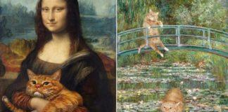 quadros famosos com gata pintada