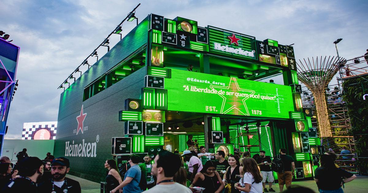 Estande Heineken no Rock in Rio