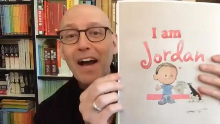 autor mostra ilustração