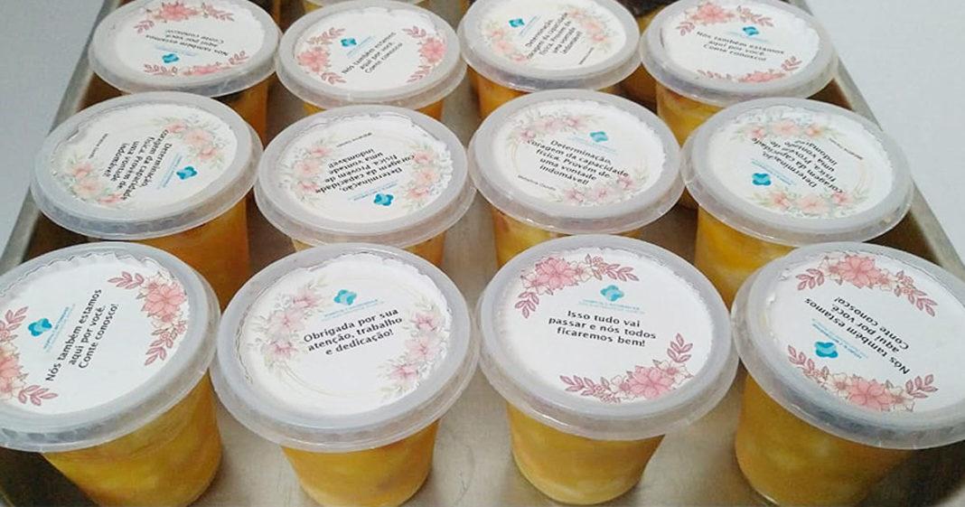 Sobremesas entregue em hospitais do Ceará