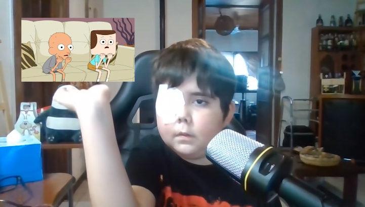 menino youtuber comenta desenho canal