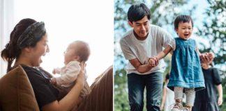 pais desfrutando licença parental com filhos