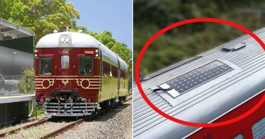 trem movido a energia solar