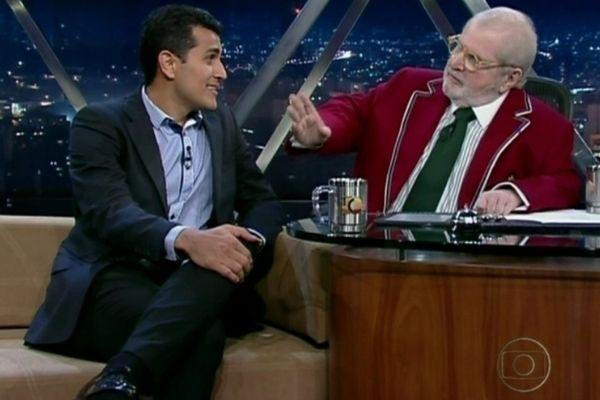 ex-jogador Edmar Figueira com Jô Soares