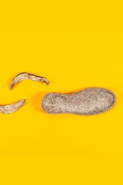 couro feito de cascas de banana