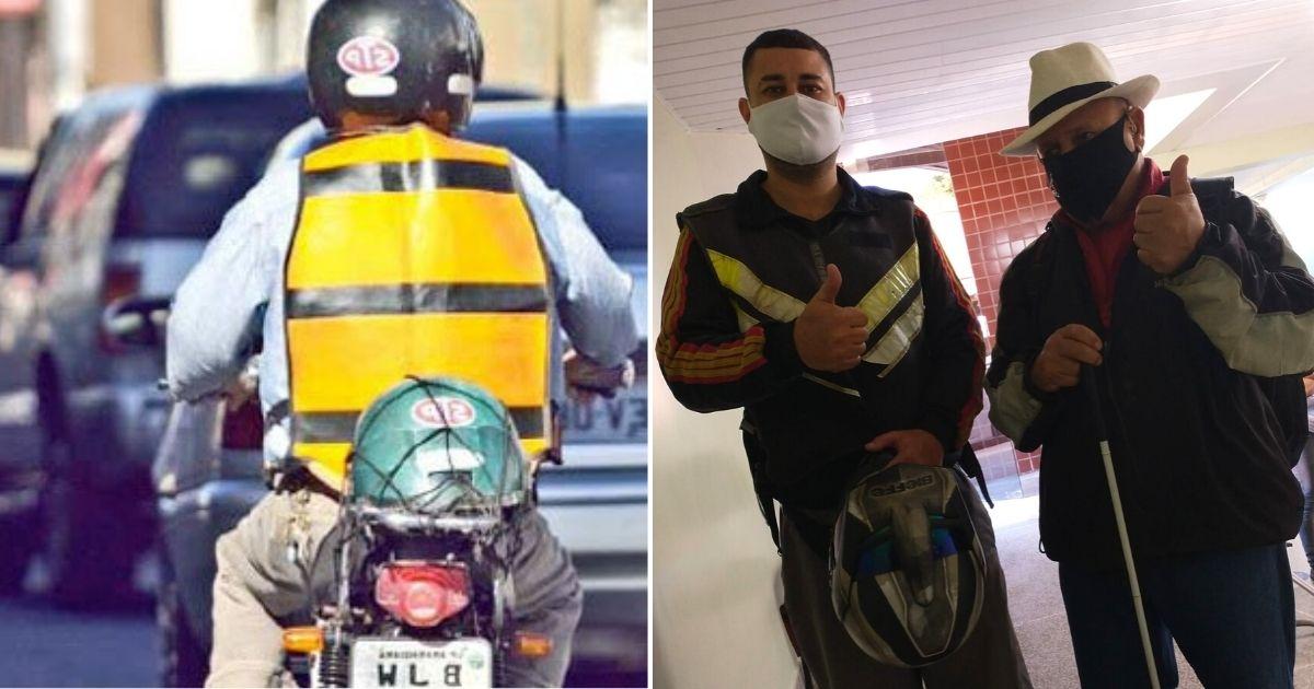 mototaxista ajuda idoso