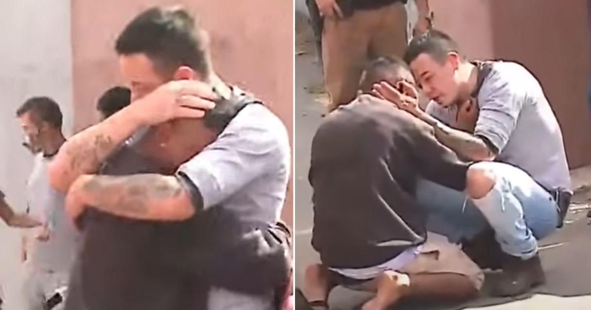 pai consola jovem que atropelou filha