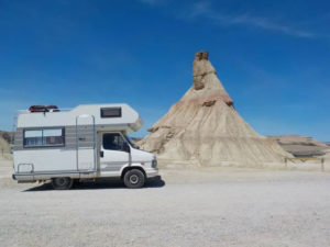 Trailer no deserto das Bardenas